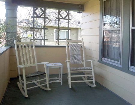 Several Pieces of Furniture are Original to the House, Including One of the Front Porch Rocking Chairs. It's Another Comfortable Place to Relax and Read.
